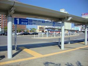 函館駅前バスターミナル1番乗り場